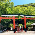 諏訪神社の並列鳥居